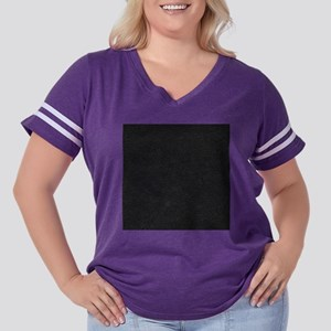 Leather Black Women's Plus Size Football T-Shirt