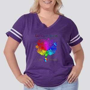 Autism Spectrum Women's Plus Size Football T-Shirt