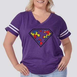 Autistic SuperHero Women's Plus Size Football T-Sh