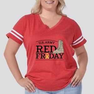 Army RED Friday Women's Plus Size Football T-Shirt