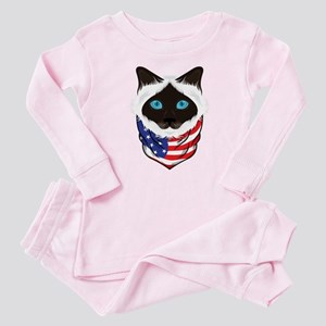 Cat Lover American Flag Gifts British Long Pajamas