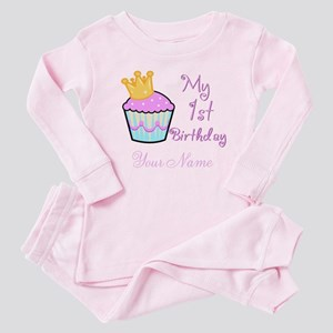 Cupcake Birthday Baby Pajamas