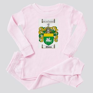 Quinn Family Crest Baby Pajamas