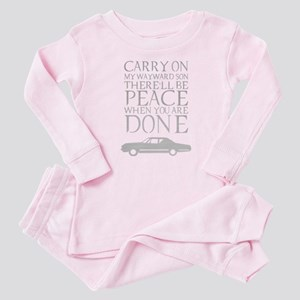 supernatural carry on Baby Pajamas