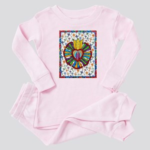 Guadalupe Red Milagro Baby Pajamas