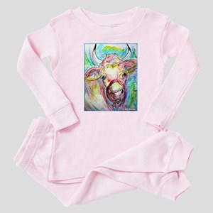 Cow! Colorful, art! Pajamas