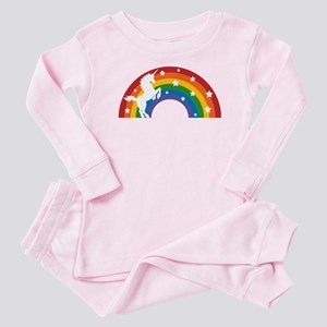 Retro Rainbow Unicorn Baby Pajamas