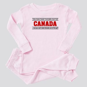 'Girl From Canada' Baby Pajamas
