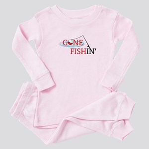 Gone fishing bobber and fishing pole Baby Pajamas