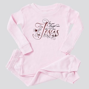 Beautiful name of Jesus Baby Pajamas