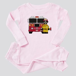 Firefighter and Fire Engine Baby Pajamas
