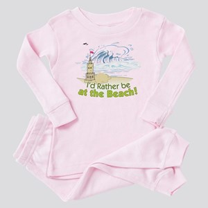 I'd rather be at the Beach! Baby Pajamas