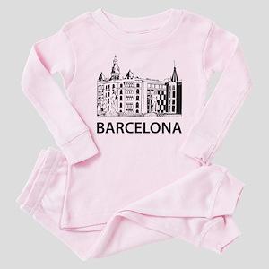 7a7ba86a2b0 Barcelona Baby Pajamas - CafePress