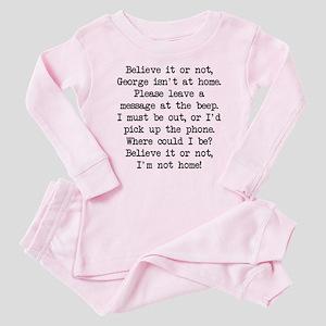 George Costanza Baby Pajamas Cafepress