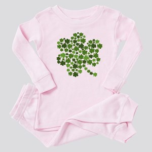Irish Shamrocks in a Shamrock Baby Pajamas