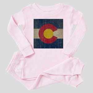 Vintage Colorado Flag Baby Pajamas