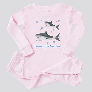 Personalized Shark Baby Pajamas