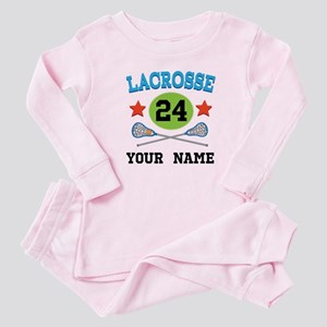 Lacrosse Player Personalized Baby Pajamas
