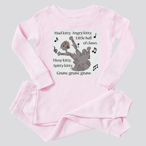Mad Kitty Angry Kitty Baby Pajamas