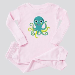 Blue and Yellow Octopus Pajamas