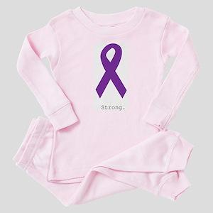 Strong. Purple Ribbon Baby Pajamas