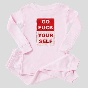 fuckyourselfgrunge copy Baby Pajamas