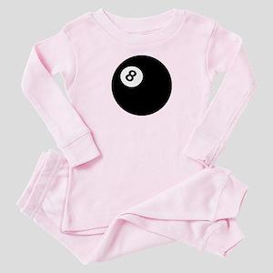 black billiard ball Baby Pajamas