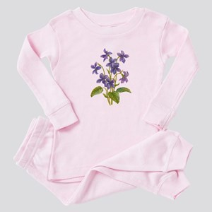Purple Violets Baby Pajamas