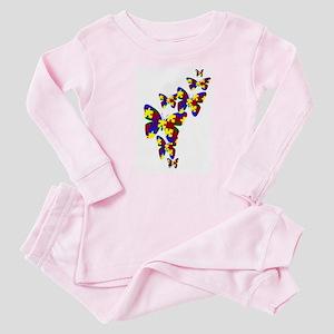 Burst of butterflies Baby Pajamas