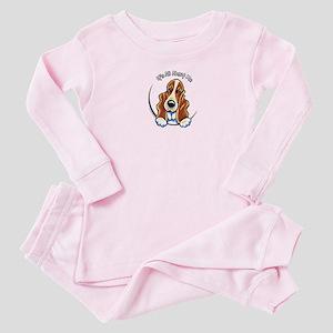 Basset Hound IAAM Logo Baby Pajamas