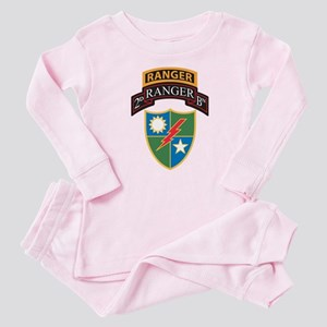 2nd Ranger Bn with Ranger Tab Baby Pajamas