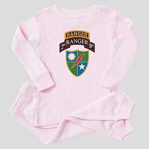 2nd Ranger Bn with Ranger Tab Baby Pajamas