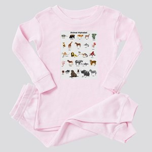 Animal pictures alphabet Baby Pajamas