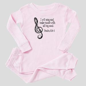 PSALM 108:1 Baby Pajamas