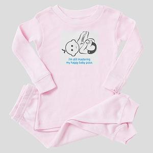 Yoga Happy Baby - Baby Pajamas (Blue)