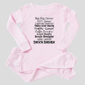 Big Rig Drivin' Baby Pajamas