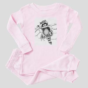 Raccoon Play Baby Pajamas