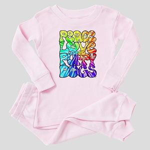 PeaceLovePuppyDogs2Tie-Dye Baby Pajamas
