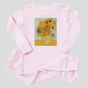 Van Gogh Sunflowers Baby Pajamas