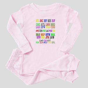Airport Code Baby Pajamas