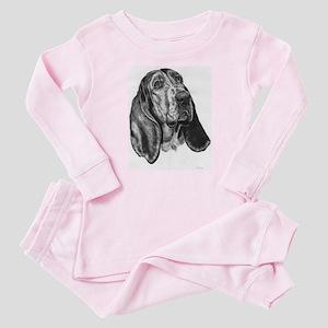 Basset hound Baby Pink Pajamas