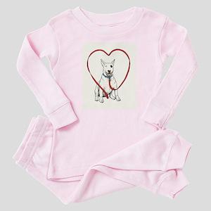 Love Your Bull Terrier Baby Pajamas