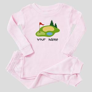 Personalized Golfing Baby Pajamas