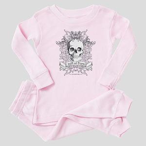 Skull salt and burn Baby Pajamas