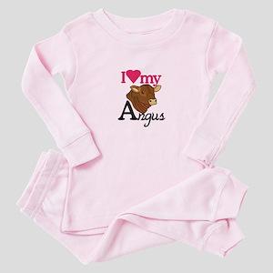 I Love My Angus Baby Pajamas