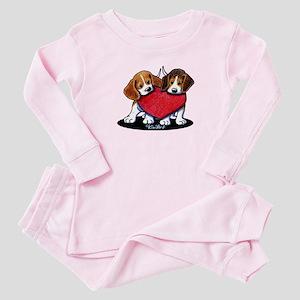 Beagle Heartfelt Duo Baby Pajamas