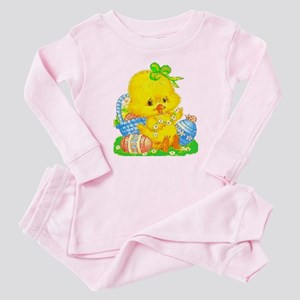 Vintage Cute Easter Duckling and Easter Egg Pajama
