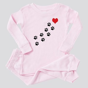 Paw Prints To My Heart Baby Pajamas