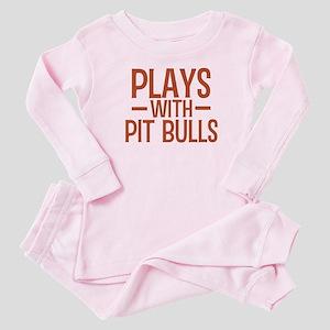 PLAYS Pit Bulls Baby Pajamas