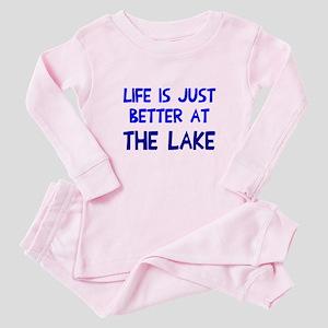 Life is just better lake Baby Pajamas